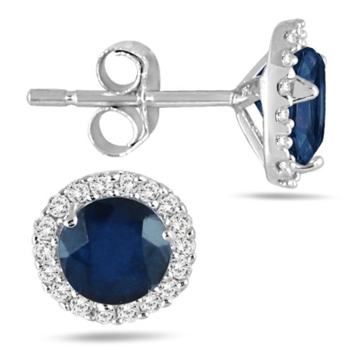 100-Carat-Sapphire-and-Diamond-Stud-Earrings-in-14K-White-Gold