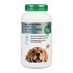 Gnc ultra mega fish oil advantage for dogs 90 for What does fish oil do for dogs