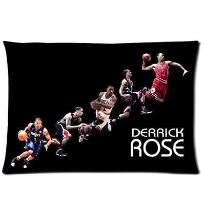 Custom Chicago Bulls Derrick Rose Pillowcase Rectangle Zippered Two Sides Design Printed 16x24 pillows Throw Pillow Cover Cushion Case Covers