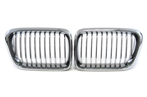 97-98 Bmw E36 Chrome M Power Front Grille 318 323 328 M3 Oem Replacement Hood Kidney Grill front-582646