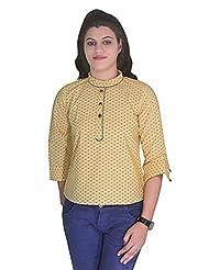 Selfi Short Design Base Colour Casulas Top For Outdoors Womens And Girls_JVT0092