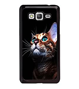 printtech Green Eyes Cute Cat Back Case Cover for Samsung Galaxy Grand Prime G530h