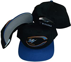 Washington Wizards Vintage Black Blue Two Tone Velcro Cap Hat by Drew Pearson