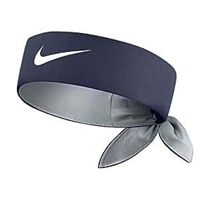 nike tie headband midnight navy white