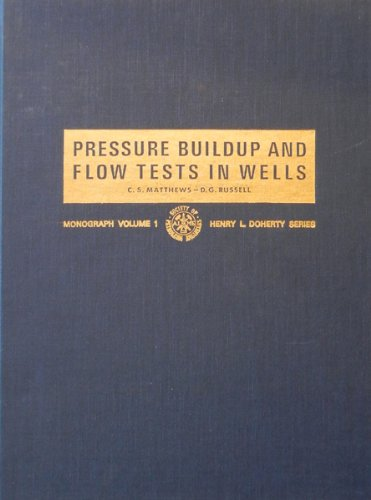 Pressure buildup and flow tests in wells (Society of Petroleum Engineers of AIME. Monograph) PDF