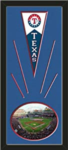 Texas Rangers Wool Felt Mini Pennant & Rangers Ballpark in Arlington Photo -... by Art and More, Davenport, IA