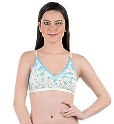 AnS Enterprise Women's Cotton Material Bra in Blue Color- 30