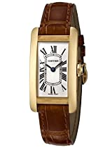 Cartier Tank Americaine 18kt Yellow Gold Ladies Watch W2601556