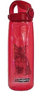 Nalgene 'Everyday OTF' - 0,7 L, rot, mit Katzenmotiv
