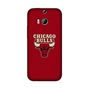 Wrapit Sports Chicago Bulls Hard Back Case Cover For HTC M8