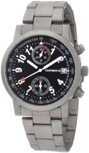 CEPHEUS CP505-121 - Reloj de caballero de cuarzo, correa de acero inoxidable color gris