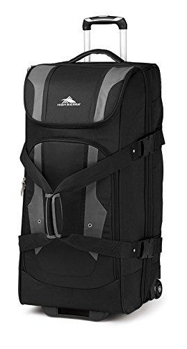 High Sierra Adventure Access Wheeled Duffel Bag, Black/Charcoal, 32-Inch