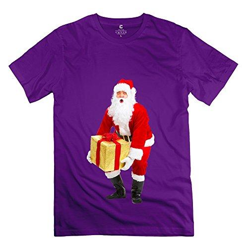 Juj-M Tee Boy Merry Christmas Tshirt/Xx-Large Purple
