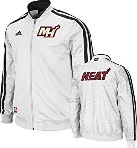 Miami Heat adidas Home Weekday 2012-2013 Authentic On-Court Jacket - White by adidas