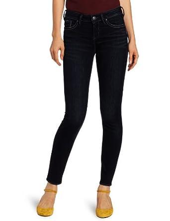 Silver Jeans Juniors Stevie Skinny Jean, Dark Blue, 32x29