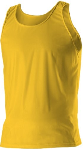 Alleson Women s Solid Track Tanks LG - LIGHT GOLD W3XL