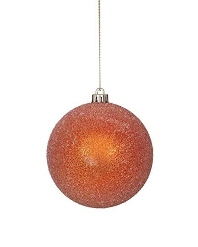 Winward Set of 4 Sugared Ball Ornaments, Burnt Orange