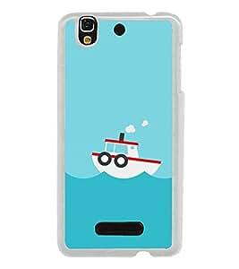 Boat In the Sea 2D Hard Polycarbonate Designer Back Case Cover for YU Yureka :: YU Yureka AO5510