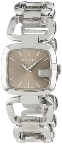 Gucci Women's YA125507 G-Gucci Small Brown Dial Steel Bracelet Watch