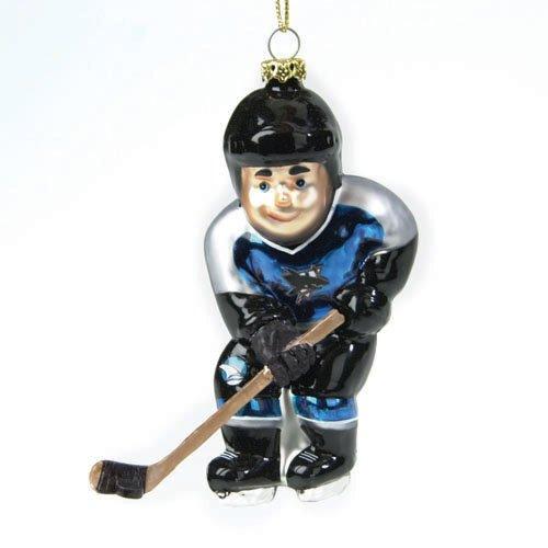 Christmas Tree San Jose: Pack Of 3 Nhl San Jose Sharks Glass Hockey Player