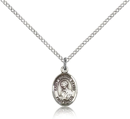 """Jewelsobsession'S Sterling Silver St. Dominic Savio Pendant - 18"""" Chain"""