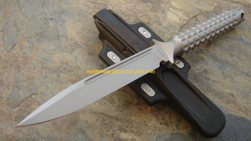 Microtech Ado S/E Tactical Knife Bead Blast W/Glass Breaker Hollow Handle 116-7