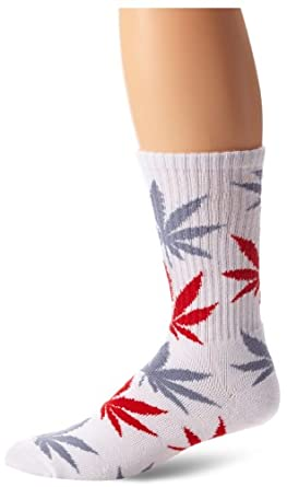 HUF - Chaussettes basses -  Homme -  Blanc - White/Grey/Red - Taille unique