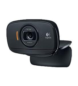 Logitech HD Webcam C525 Webcam HD 720p 8 mégapixels avec microphone intégré compatible Skype/MSN/Facebook