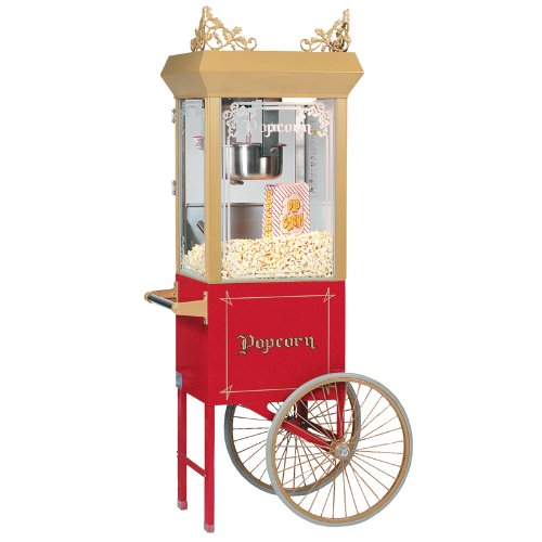 Gold Medal 2660GT 120240 Popcorn Machine, 6-oz EZ Kleen Kettle, Antique Gold Dome, 120/240V, Each (Ez Popcorn Maker compare prices)