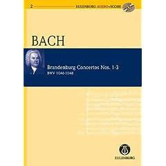 Brandenburg Concertos Nos. 1-3 BWV 1046-1048 (Eulenburg Audio+Score)