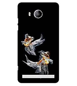 ifasho Fish in Blue See Back Case Cover for VIVO Xshot