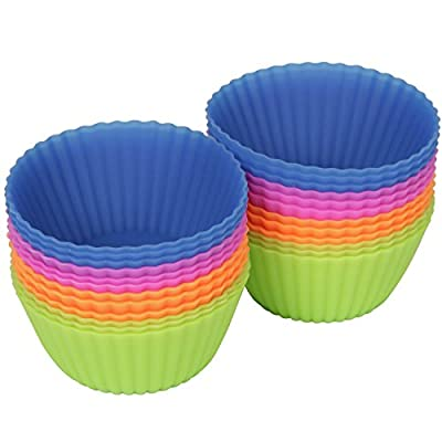 Vmargera® 24-pack Reusable Silicone Baking Cups / Cupcake Liners