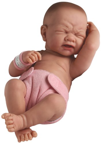 "Newborn Baby Anatomically Correct Real Girl Baby Doll 36 cm - All Vinyl ""First Tear"" Designed by Berenguer - Made in Spain"