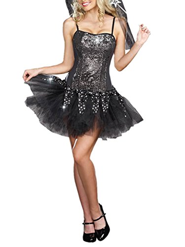 Allbebe Women's Halloween Masquerade Dress Queen Gothic Witch Costume