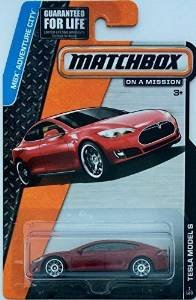 Matchbox 2015 MBX Adventure City 7/120: Tesla Model S (Dark Red) (Tesla Model compare prices)