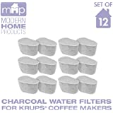 Charcoal Water Coffee Filter Cartridges, Replaces Krups F4720057 Duo Charcoal Water Coffee Filters- Set of 12