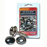 Screw-In Snap Stud Replacement Kit Nickel Plated Brass