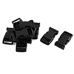 Plastic Safety Side Quick Release Buckles 3/4 Inch 10Pcs Black