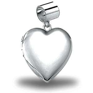 Charm Heart Locket - 2/3 Inch X 2/3 Inch: Locket Necklaces: Jewelry