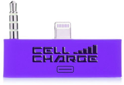 Cell Charge 30 Pin To 8 Pin Audio Jack Adapter Converter For Iphone 5/5S/5C (Purple)