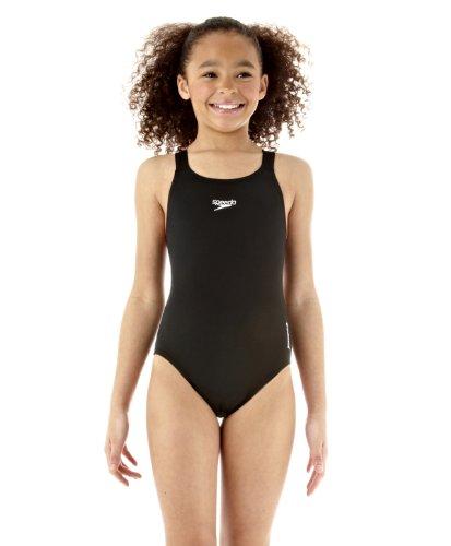 Speedo End Medalist Maillot de bain 1 pièce fille Noir FR : 6 ans (Taille Fabricant : 6A)