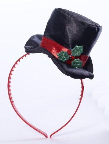 Forum Christmas Costume Adult Burlesque Mistletoe Mini Top Hat - 1