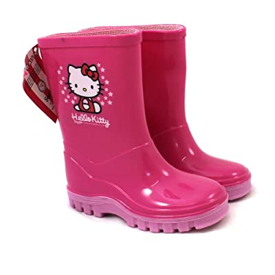 Hello Kitty Wellies / Wellingtons - From UK Child Shoe Size 6 to 12
