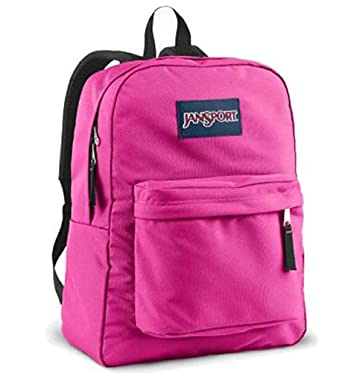 JANSPORT SUPERBREAK BACKPACK SCHOOL BAG - Fluorescent Pink