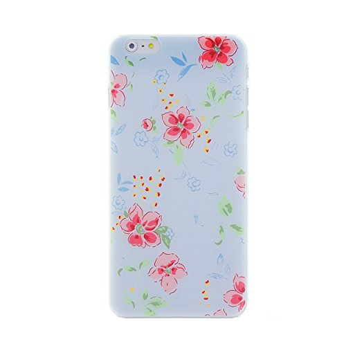 CaseBee® Flower Series - Pretty Floral Flowers Print iPhone 6 / 6S Plus Case - Perfect Gift (Package includes Screen Protector) (Watercolor Flower on Sky Blue Background)