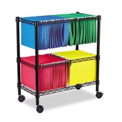 ALEFW601426BL - Best Two-Tier Rolling File Cart
