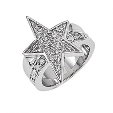 Thierry Mugler Women's Ring Silver t22158z-Cubic Zirconia