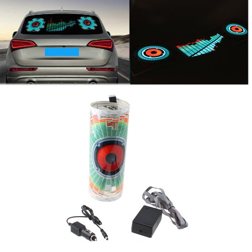 Image® 90X25Cm Car Auto Music Beat Rhythm Led Glow Lights Lamp Sound Activated Equalizer Sticker