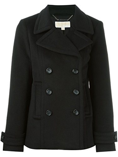 Michael Kors Cappotto Donna Doppiopetto Caban Peacoat Nero