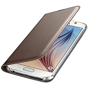 Helix Leather Flip Cover for Samsung Galaxy On7 Pro GOLD